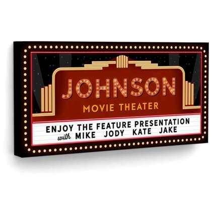 Pretty Perfect Studio Custom Home Theater Sign