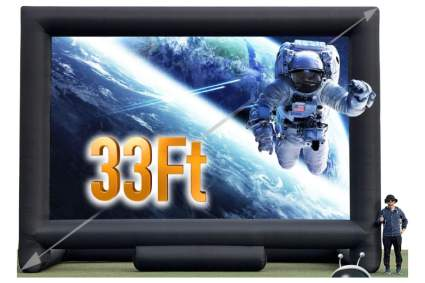 Sewinfla 33-Feet Giant Inflatable Projector Screen