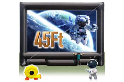 Sewinfla 45-Feet Giant Inflatable Outdoor Movie Screen