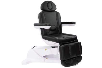 Black and white medical exam chair bed