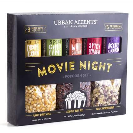 Urban Accents Movie Night Popcorn Kernels and Popcorn Seasoning Variety Pack