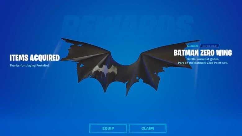 batman zero wing glider code