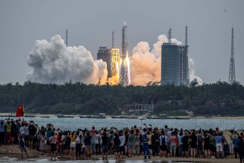 chinese rocket falling to earth video
