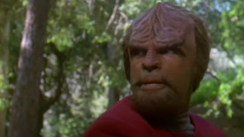 A scene with Mr. Worf (Michael Dorn) was part of why DS9 was scrutinized.