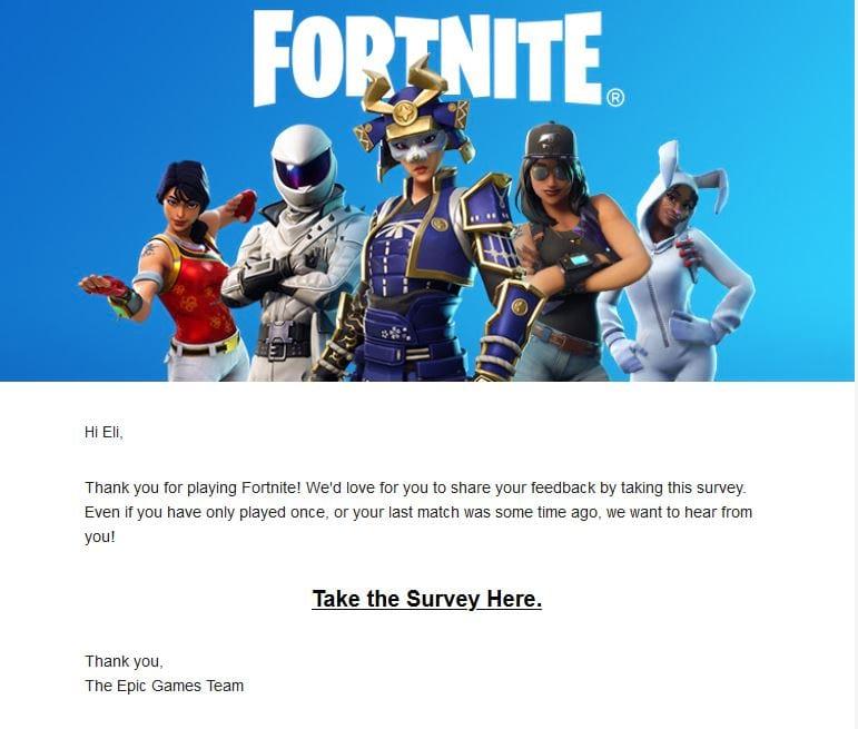 fortnite survey