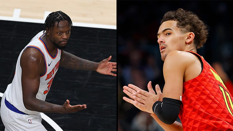 trae young knicks frustration game 4