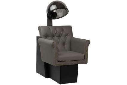 Grey and black hair dryer chair