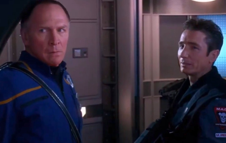 """Vaughn Armstrong as Captain Forrest and Dominic Keating as Lieutenant Reed in """"Star Trek: Enterprise"""""""