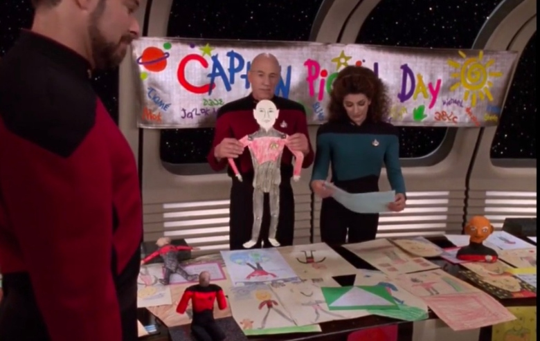 """Captain Picard Day in the """"Star Trek: The Next Generation"""" episode """"The Pegasus"""