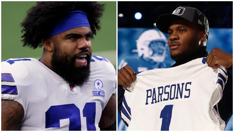 Cowboys RB Ezekiel Elliott, LB Micah Parsons