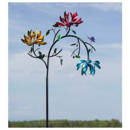 Evergreen Garden flower wind spinner decoration