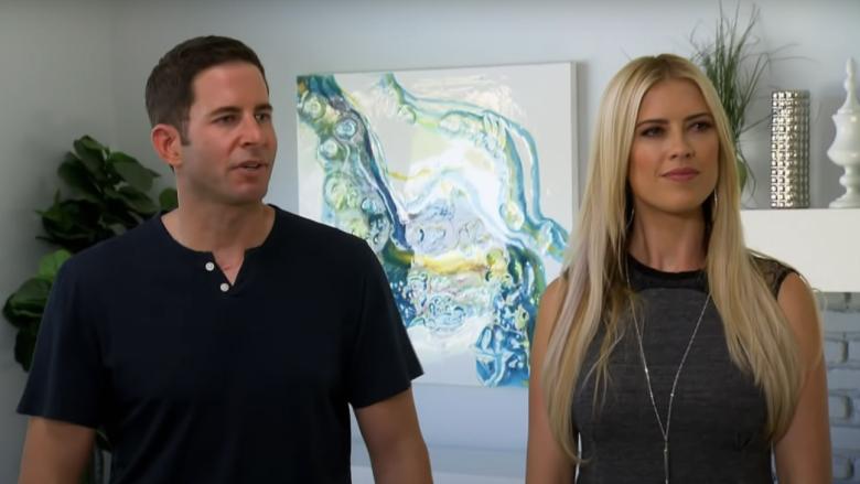 Tarek El Moussa and Christina Haack speak with prospective buyers on 'Flip or Flop.'