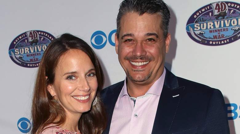 Amber Brkich Mariano and 'Boston' Rob Mariano at the premiere of 'Survivor: Winners at War'