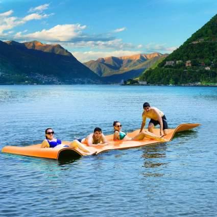 Goplus 12' x 6' Floating Water Pad Mat