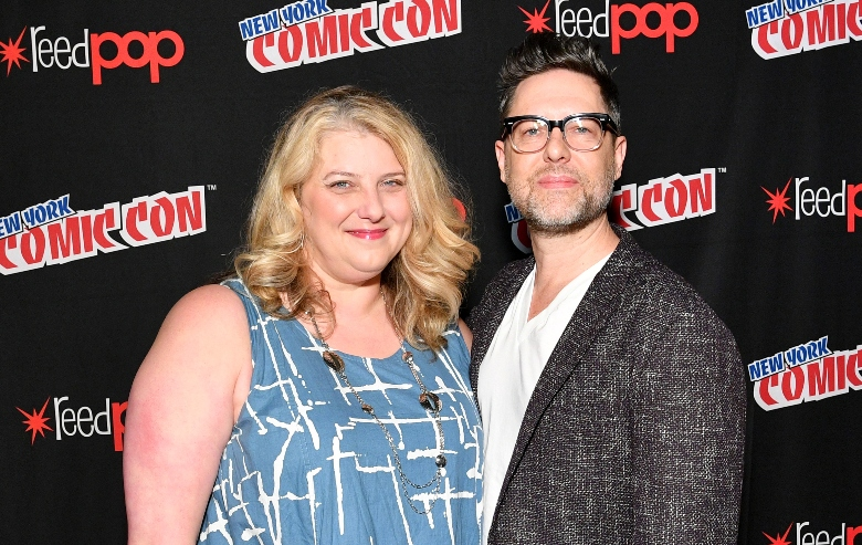 """Gretchen Berg and Aaron Harberts at the """"Star Trek: Discovery"""" panel at New York ComicCon"""