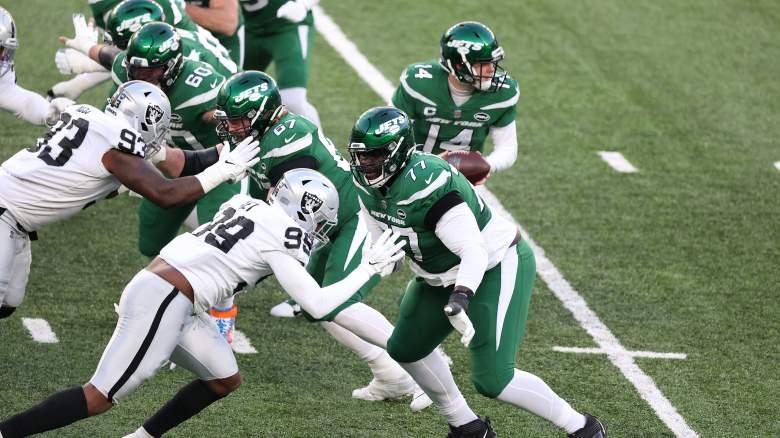 Mekhi Becton, Jets offensive line