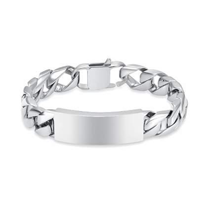 men's silver cremation bracelet