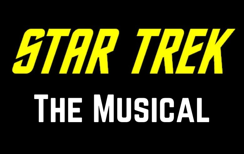 """""""Star Trek"""" logo with the words """"The Musical"""" underneath"""