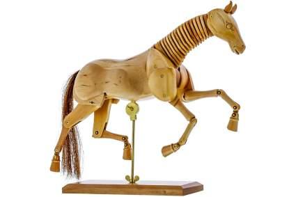 Wooden horse figure