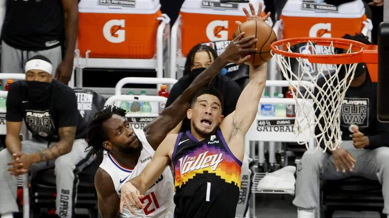 Pat Beverley and Devin Booker