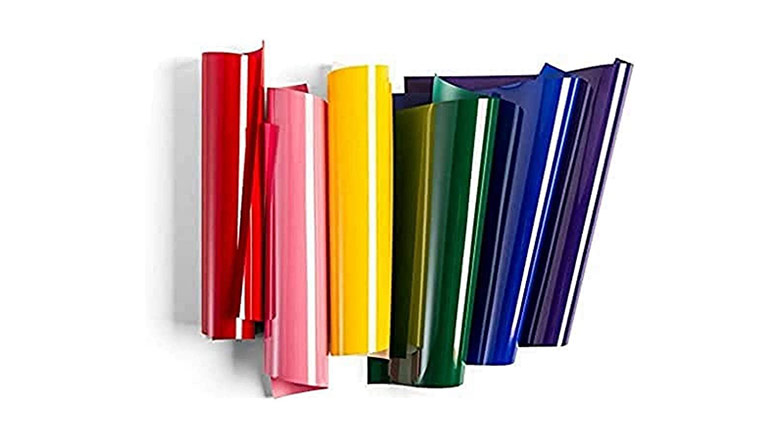 rainbow bundle of HTV vinyl