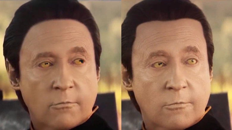 The original hairline (left) and the updated hairline (right).