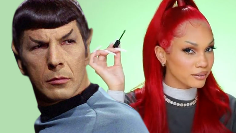 Mr. Spock and YouTuber Ashley Strong