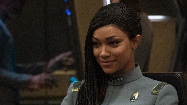 Sonequa Martin-Green as Captain Michael Burnham.