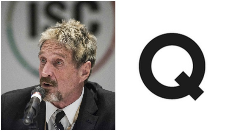 John McAfee's Instagram posted a Q.