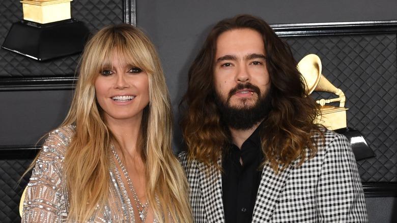 Heidi Klum and her husband tom Kaulitz at the Grammys.