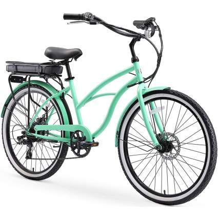 mint green e-bike