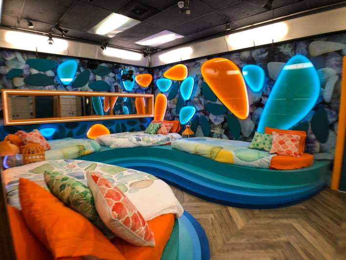 The 'Sea Glass Room' in the 'Big Brother 23' house