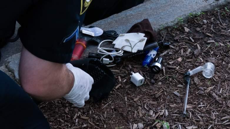drug paraphernalia recovered