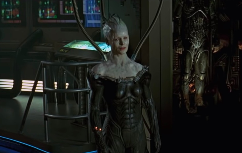 """Alice Krige as the Borg Queen in the movie """"Star Trek: First Contact"""""""