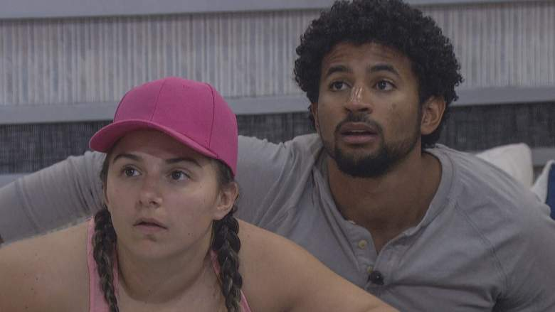 Britini D'Angelo and Kyland Young on 'Big Brother 23'