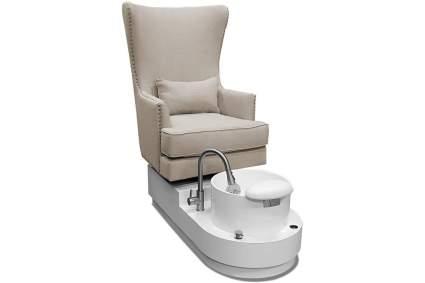 Cream arm chair with pedicure tub spa