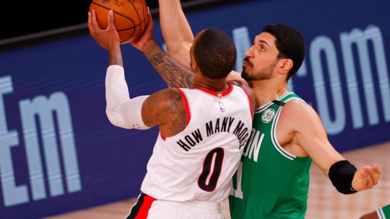 Enes Kanter Damian Lillard Celtics Blazers