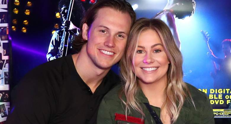Andrew East and Shawn Johnson attend Bohemian Rhapsody's Get Loud Extravaganza
