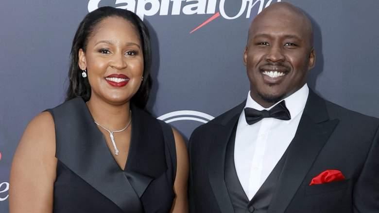 Maya Moore and Jonathan Irons attend the 2021 ESPY Awards