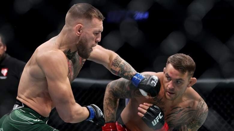 Conor McGregor and Dustin Poirier fight