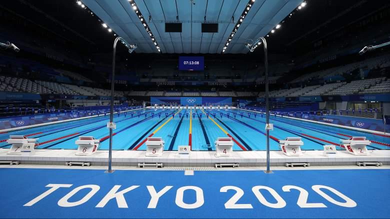 Olympics swimming watch