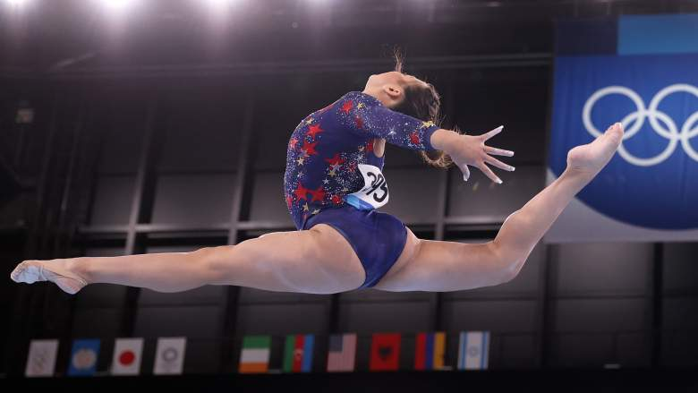 Sunisa Lee of Team USA competes on balance beam during Women's Qualification