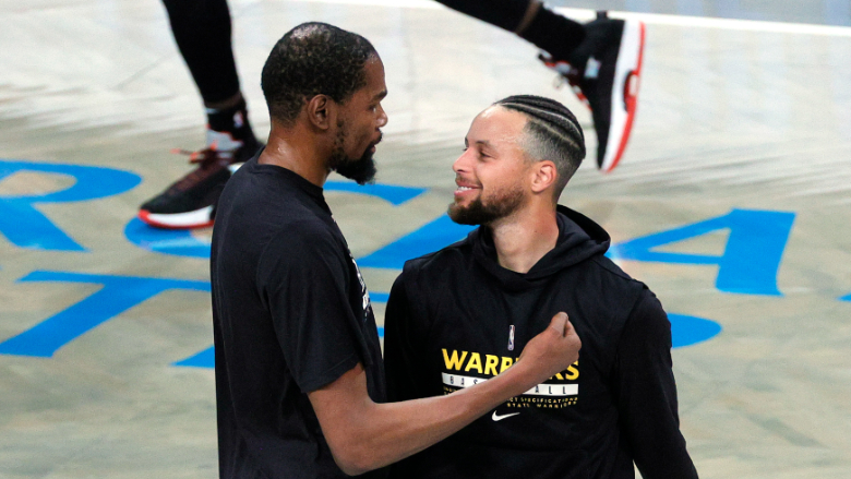 Kevin Durant Stephen Curry Warriors Nets