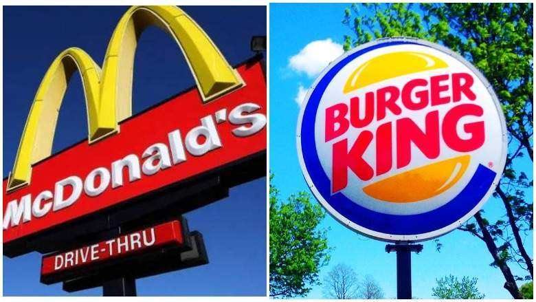 McDonald's and Burger King for July 4, 2021