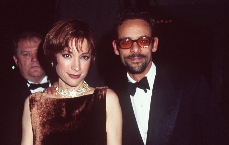 """Newlyweds Alexander Siddig and Nana Visitor of """"Star Trek: Deep Space 9"""" at the opening of Star Trek The Experience at the Las Vegas Hilton."""