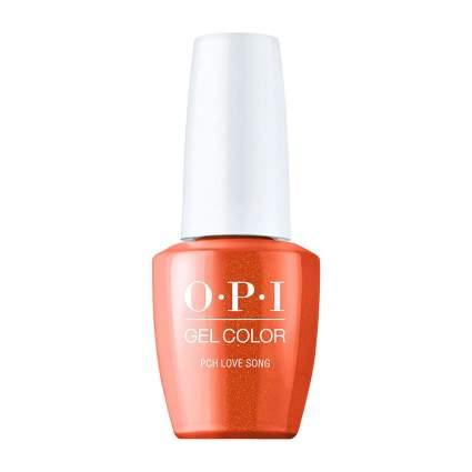 Orange OPI gel color bottle