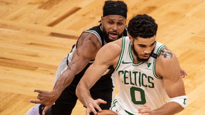 Patty Mills Jayson Tatum Celtics