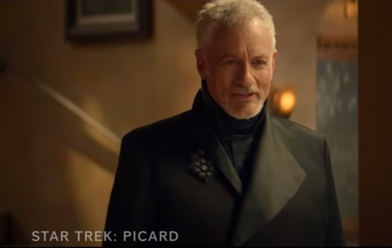 "John de Lancie as Q in the trailer for ""Star Trek: Picard"" season two"