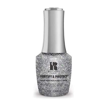 Silver glitter nail polish bottle