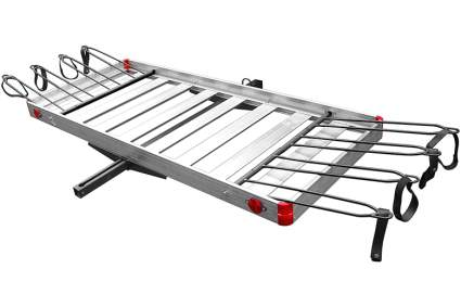 cargo carrier with bike rack